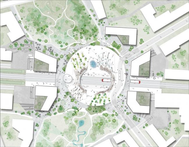 Проект ЖД станции в Винге от Henning Larsen Architects