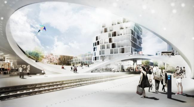 ЖД станция и общественный парк в Винге. Henning Larsen
