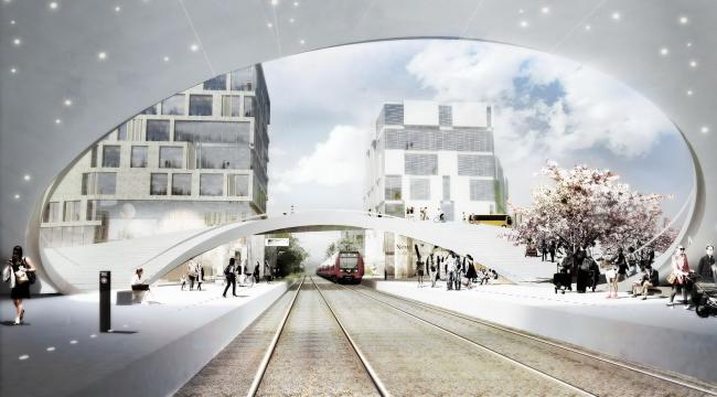 Железнодорожная станция в Винге. Проект Henning Larsen Architects