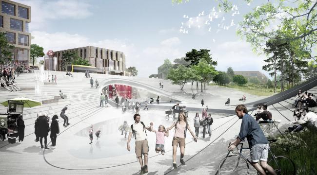 Общественный парк и ЖД вокзал в Винге. Проект