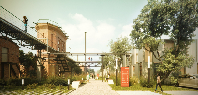 Реновация территории завода на Бережковской набережной © Архитектурная мастерская Arch group