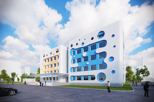 Реконструкция детской поликлиники в Новопеределкино © Архитектурная мастерская Arch group