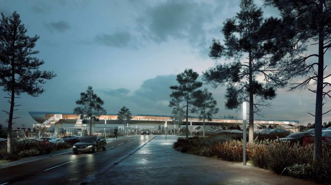 Дизайн транспортного терминала в Кёге от COBE