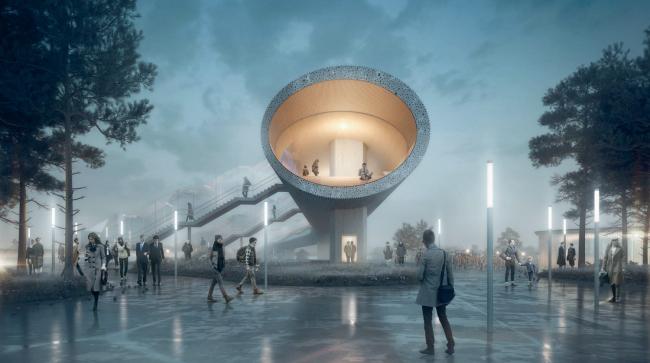 Фото | Новый транспортный терминал в Кёге от COBE