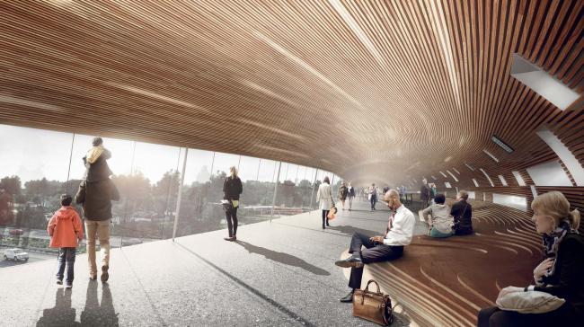 Интерьер транспортного терминала в Кёге от COBE