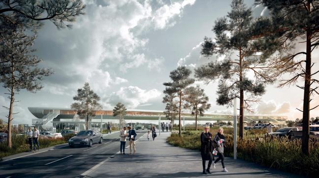 Фото | Транспортный терминал в Кёге. Проект COBE