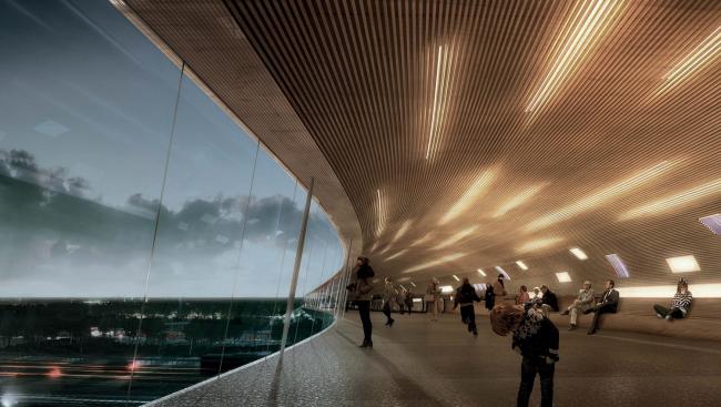 Дизайн интерьера терминала в Кёге от COBE