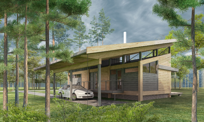 Типовой дом «Скандинавия-100» © компания NEWOOD