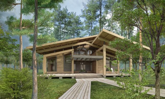 Типовой дом «Скандинавия-250» © компания NEWOOD