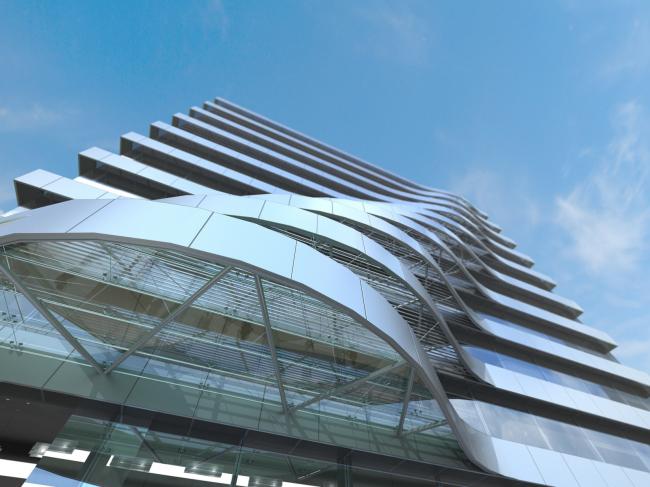 Реконструкция фасадов офисного здания на Нижней Красносельской улице © Архитектурная мастерская Arch group