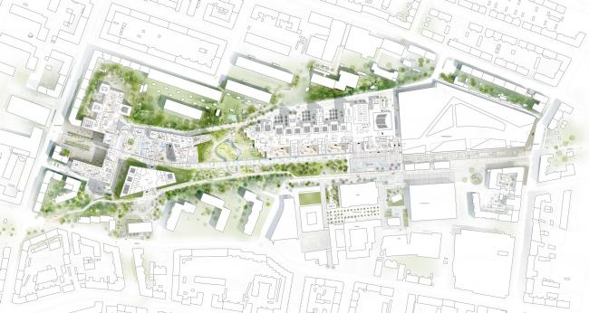 Схема Копенгагенской школы бизнеса от C.F. Møller