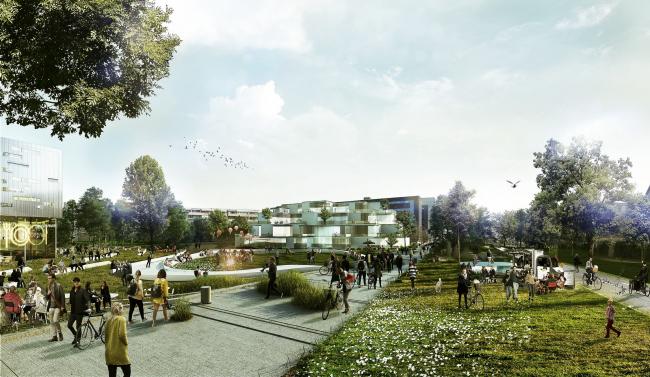 Ландшафтный дизайн Копенгагенской школы бизнеса