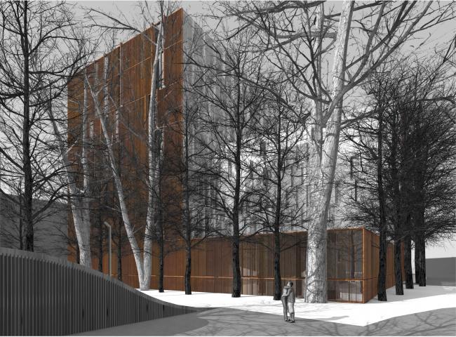Южный фасад © Сергей Скуратов ARCHITECTS