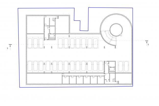 План -2 этажа © Сергей Скуратов ARCHITECTS