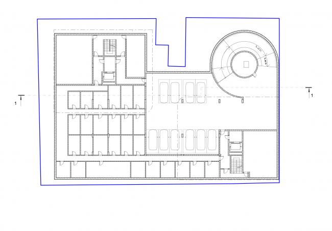 План -1 этажа © Сергей Скуратов ARCHITECTS