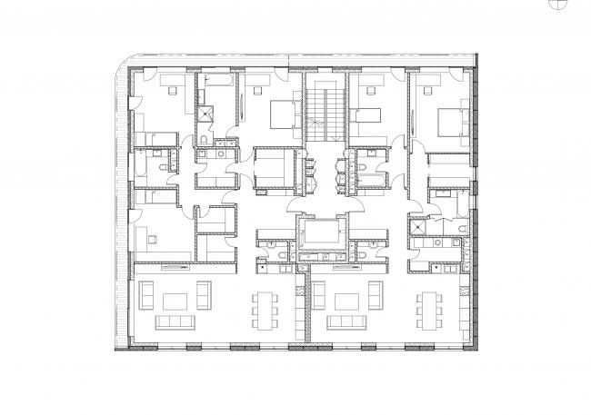 План квартир секции 2 © Сергей Скуратов ARCHITECTS
