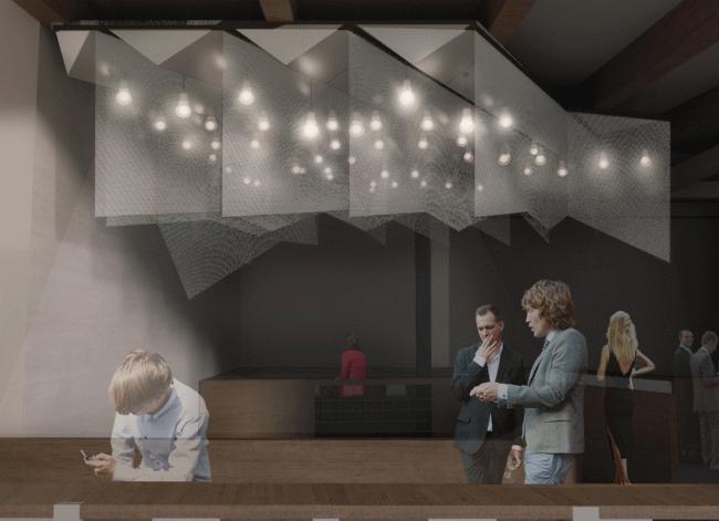 Зал Малой сцены, проект. «Электротеатр Станиславский». 2014 © Wowhaus