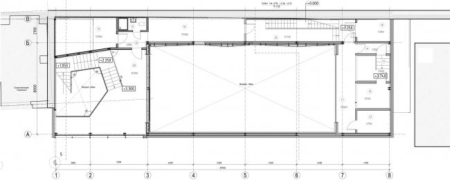 Строение 3 (Малая сцена), план по антресолям. «Электротеатр Станиславский» © Wowhaus