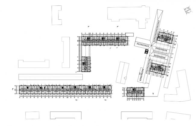 Проект многофункционального жилого комплекса на Павелецкой набережной. План 4-6 этажей © Архитектурное бюро Сергея Скуратова