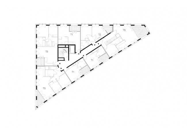 Новый ЖК в Париже. Проект LAN Architecture