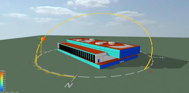 Оценка влияние интенсивности солнечной радиации и ветра на формирование теплового режима здания © Инженерное бюро Engex
