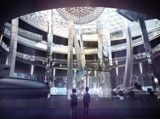 Концепция павильона Атомной Энергии на ВДНХ © Архитектурная мастерская Сергея Эстрина