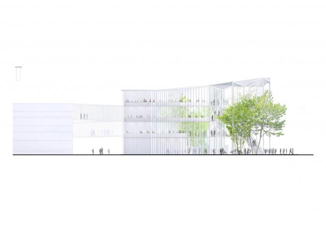 Учебный центр Политехнической школы на кампусе Париж-Сакле © Sou Fujimoto Architects, Nicolas Laisné Associés, Manal Rachdi Oxo Architectes
