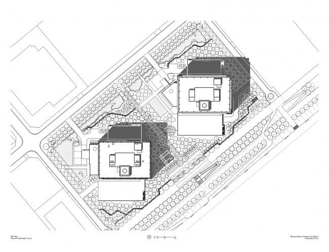 Жилая башня Harumi I © Richard Meier & Partners Architects