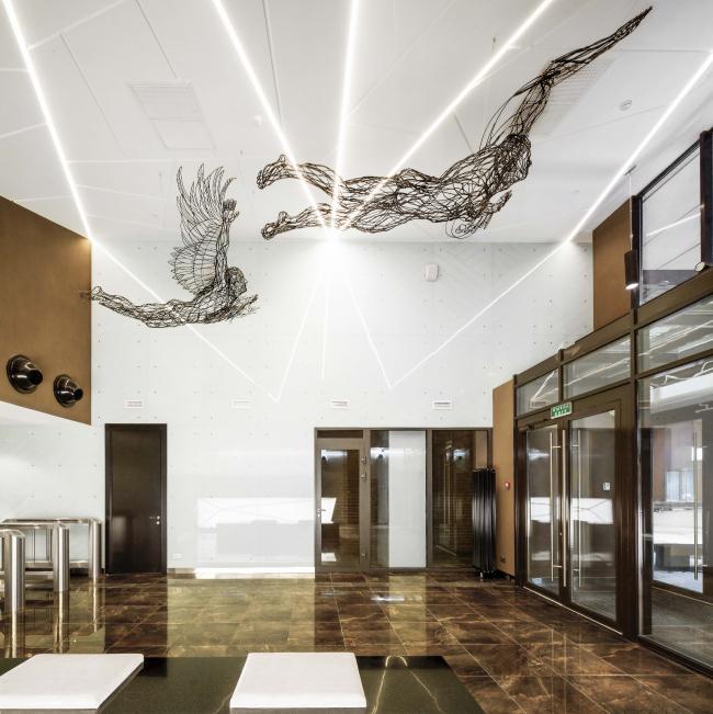 Входная группа многофункционального комплекса «Савеловский Сити». Вторая башня. Реализация, 2014 © Т+Т Architects