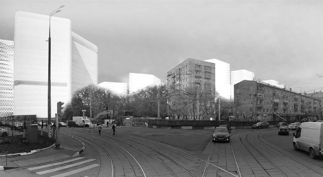 Проект жилого квартала на ул. Красноказарменная «Аннегофская роща» © Четвертое измерение