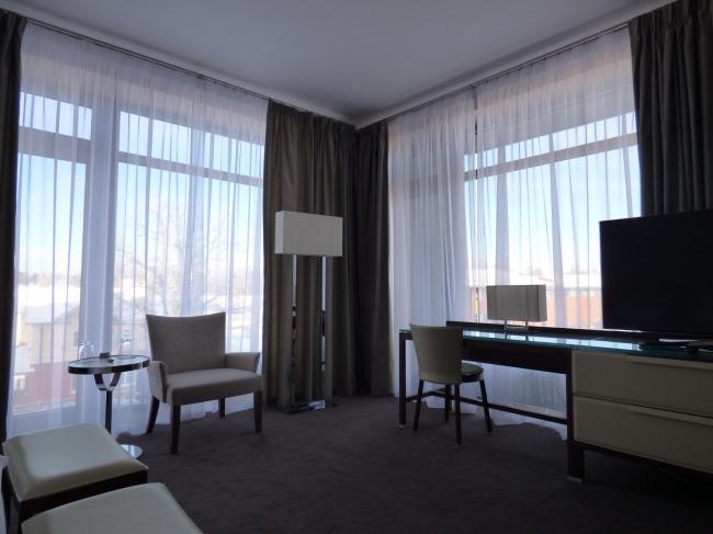 Апарт-отель «Величъ». Двухкомнатный номер © Архитектурная  мастерская Грошева Юрия