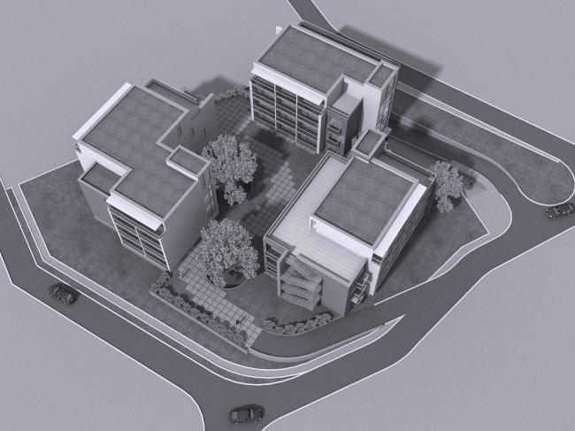Апарт-отель «Величъ» © Архитектурная  мастерская Грошева Юрия