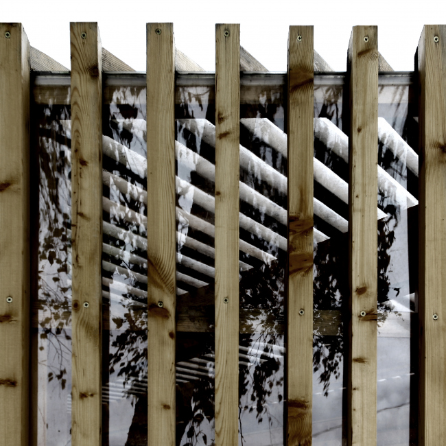 Летний павильон в селе Воздвиженское. Деталь фасада ©  Khachaturian Architects Фото: Артур Хачатурян