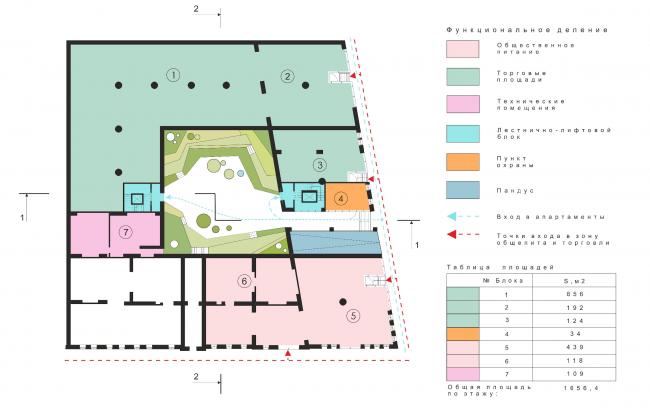 План 1 этажа © Arch Group