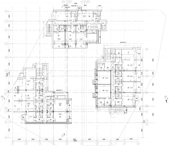 Апарт-отель «Величъ». План 2 этажа © Архитектурная  мастерская Грошева Юрия