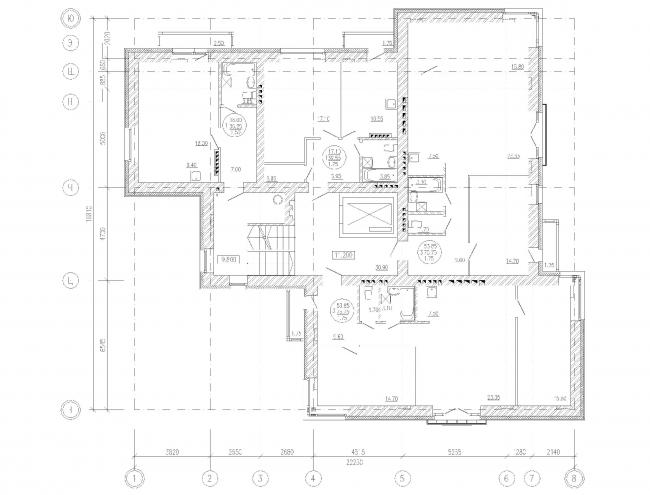 Многоквартирный жилой дом на набережной Варкауса в г. Петрозаводск. План типового этажа © Петрозаводскархпроект