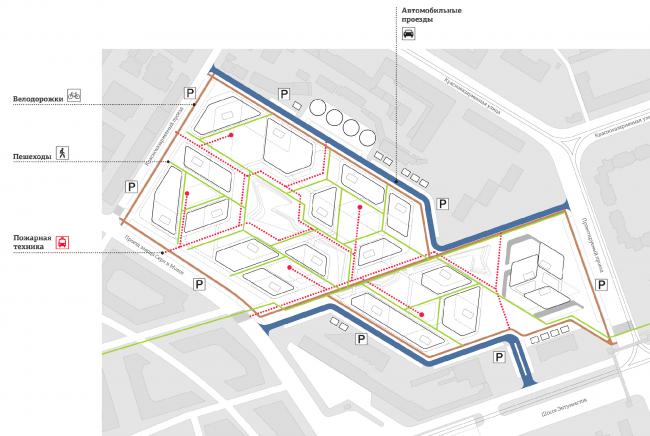 Схема транспорта и пешеходов © Четвертое измерение