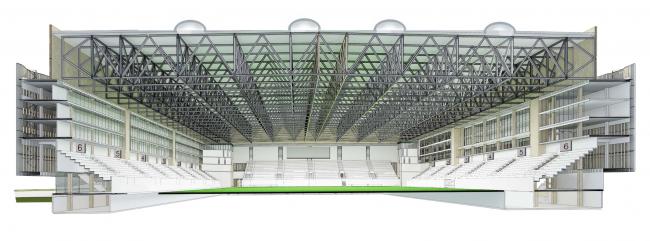 Многофункциональный комплекс футбольного стадиона «Спартак» © ГрандПроектСити