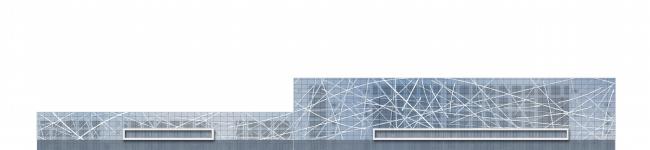 ВТБ Ледовый дворец. Схема фасадов © nps tchoban voss