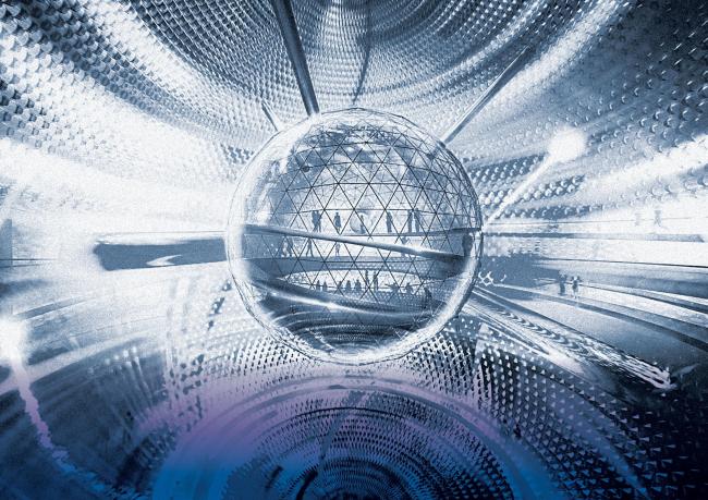 FR-EE и IND Architects. Конкурсная концепция павильона «Атомной энергии» на ВДНХ в Москве. Изображение предоставлено Бюро коммуникаций «Конструктор»
