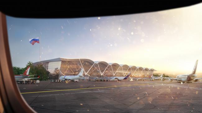 Проект международного аэропорта «Симферополь» © UNK project