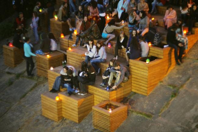 Объект проекта «Активация», удостоенный всероссийской премии АРХИWOOD в номинации «Дизайн городской среды» в 2013 году. Фото предоставлено организаторами форума  «Социальные инновации. Лига молодых»