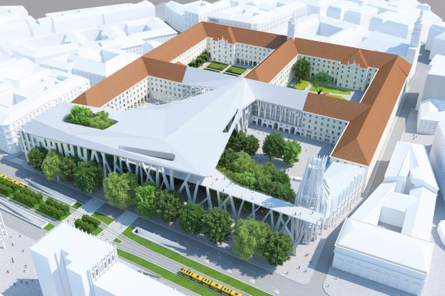 Проект для Новой национальной галереи и Музея Людвига в Будапешете © (designed by) Erick van Egeraat