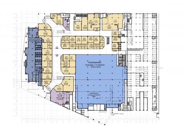 Торгово-деловой комплекс «Водный». План 1 этажа © AM «Атриум»