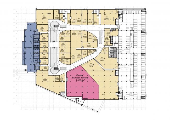Торгово-деловой комплекс «Водный». План 2 этажа © AM «Атриум»