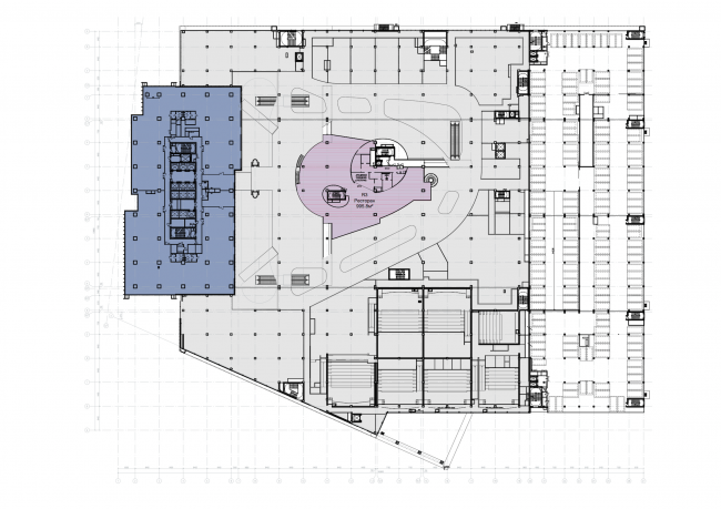 Торгово-деловой комплекс «Водный». План 4 этажа © AM «Атриум»