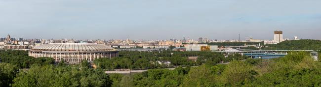 Штаб-квартира Олимпийского Комитета России. Панорама с Воробьевых Гор © TПО «Резерв»