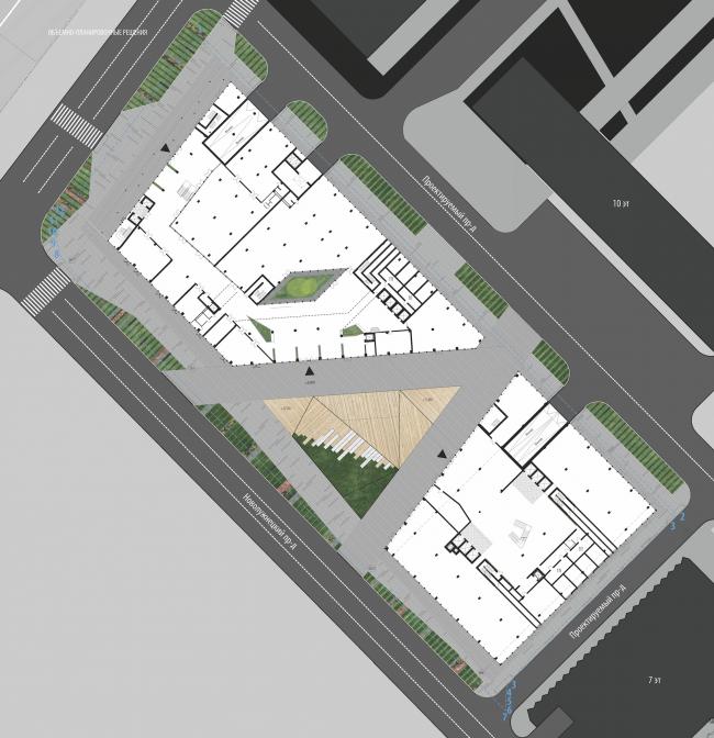 Штаб-квартира Олимпийского Комитета России. План © TПО «Резерв»
