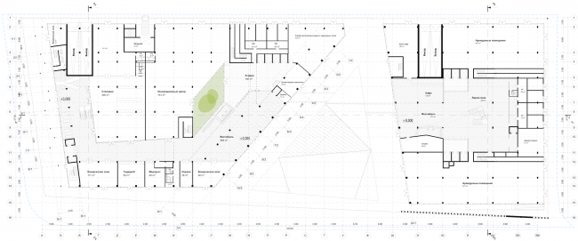 Штаб-квартира Олимпийского Комитета России. План 1 этажа © TПО «Резерв»