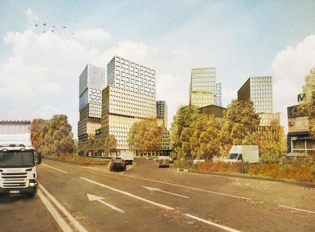 Жилой комплекс «Hidden Delight» на Рублевском шоссе © De Architekten Cie. International